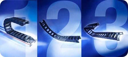 Drei neue Kettenserien und ein neuartiges Führungssystem