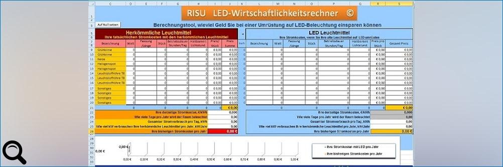 Kostenloser LED-Rechner von RISU