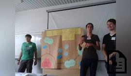 Schüler der Stuttgarter Kerschensteinerschule blicken in die Logistik der Zukun