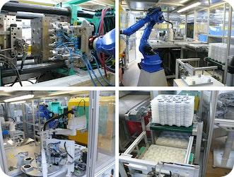 #Spritzguss-Automation Herstellung eines Kunststoffhybridbauteils effizient und  zuverlässig automatisiert