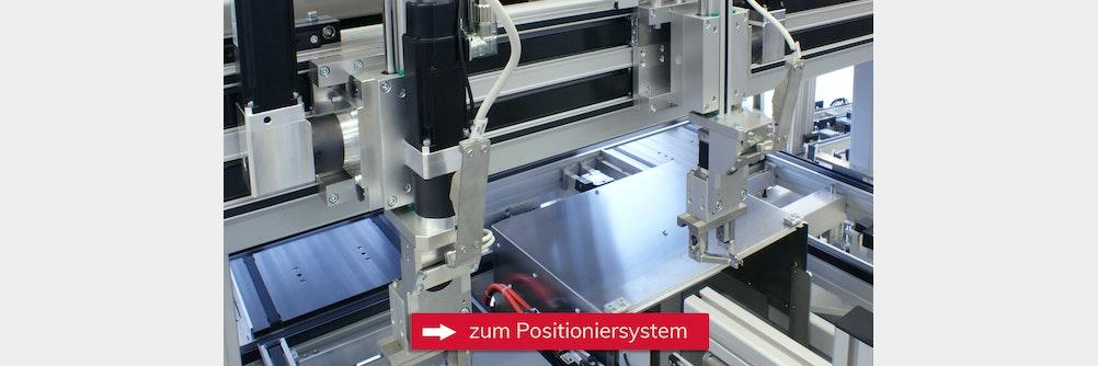 Positioniersystem mit Zahnriemenantrieb für geringen Bauraum