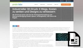 Proto Labs Design-Tipp: Niedrigere Kosten und bessere Designs mit industriellem 3D-Druck