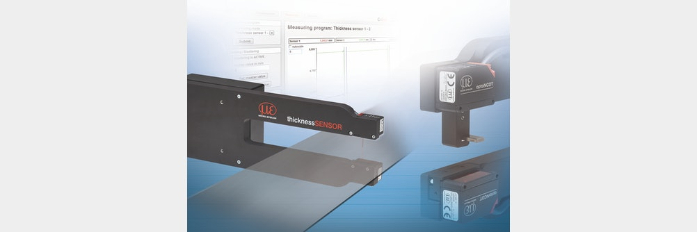 Präzise Dickenmessung mit kompaktem Sensorsystem