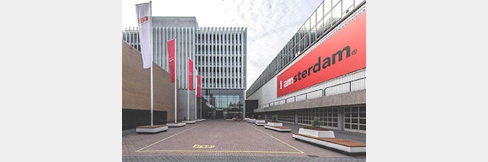 Großlamellensystem sorgt für Sichtschutz bei der RAI Amsterdam