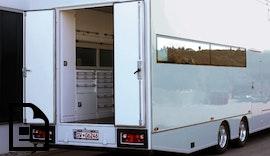cubio Betriebseinrichtung im SRAM Truck für den Support beim Mountainbike Worldcup cubio