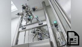 Robolux-Ventile von Bürkert sind mit ELEMENT-Steuerköpfen kombinierbar