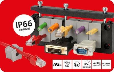 Teilbare Kabeleinführung KEL-ER nun auch IP66 zertifiziert