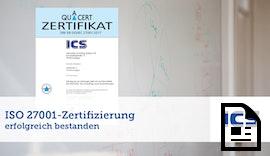 Erfolgreich ISO 27001-Zertifizierung durchlaufen!