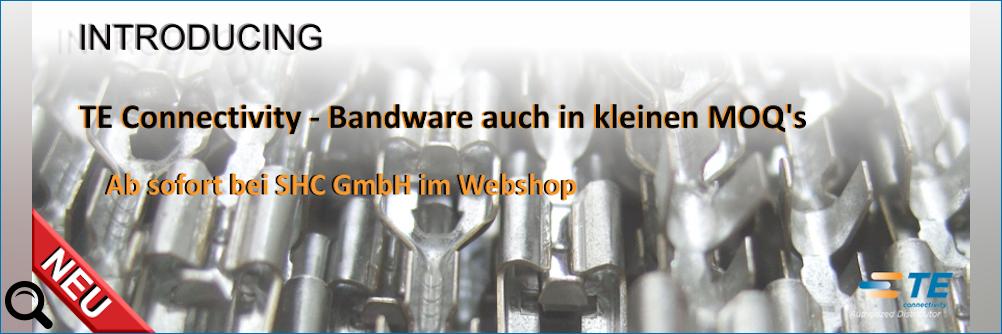 Bandware von TE Connectivity - Ab sofort auch in kleineren Verpackungseinheiten