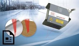 Lasersensor zur hochgenauen Abstandsmessungen auf Metall und rauen Oberflächen