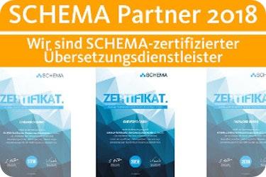 SCHEMA-zertifizierter Übersetzungsdienstleister 2018