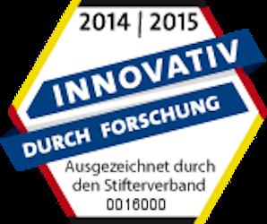 """poresta systems mit dem Siegel """"Innovativ durch Forschung"""" ausgezeichnet"""