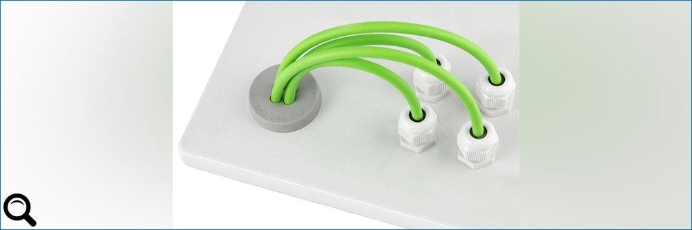 Neue M25 Multi #Kabeldurchführung im hygienischen Design und #IP66 / #IP68