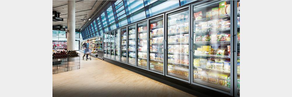 Energieeffiziente Ventilatoren für Kühlmöbel im Supermarkt