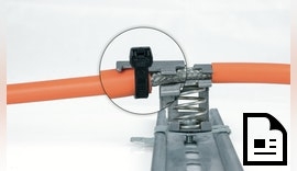 EMV Schirmklemme SKZ mit integrierter Zugentlastung