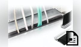 Bürstenleisten zur Kabeldurchführung für Rittal VX25 Bodenbleche