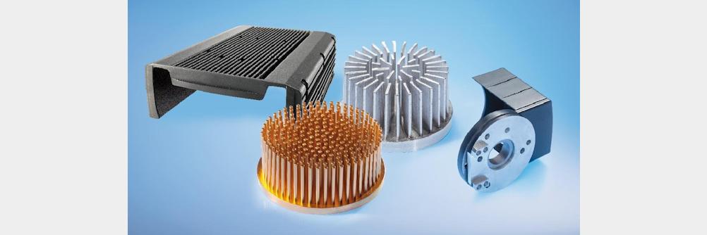 Profil Kühlkörper aus stranggepresstem Aluminium