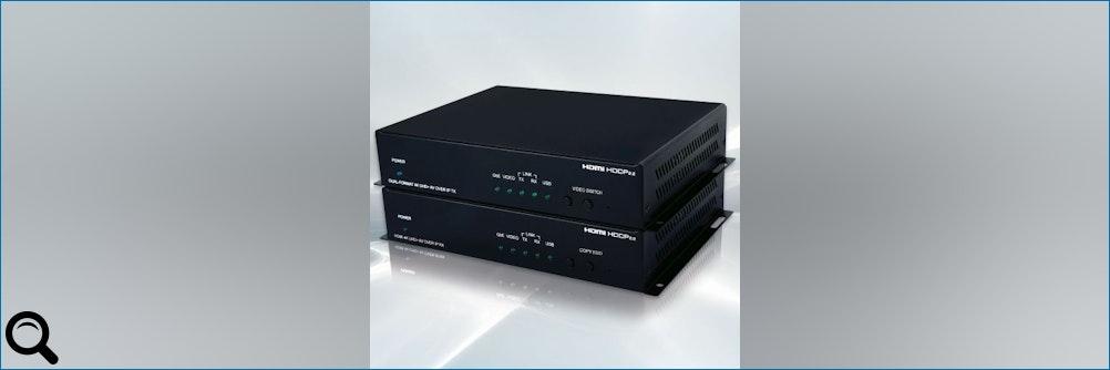4K VIDEO 30KM WEIT ÜBERTRAGEN:HDMI/DisplayPort Extender– 4K @60Hz – HDCP 2.2 – GB Etherne