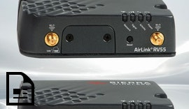 AirLink® RV55: Robuster LTE-A Pro Router mit Dual-Band WiFi