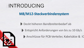 TE Connectivity's (TE) M8/M12 Steckverbindersystem