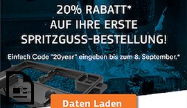 20 Jahre #Protolabs – 20% Rabatt für Neukunden