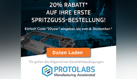 20 Jahre Protolabs – 20% Rabatt für Neukunden