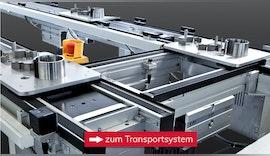 Transportsystem für Lackiertrays aus Kunststoff