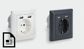 100 % bahntaugliche 230 V #Steckdose mit zwei integrierten #USB-Ladeports