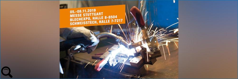 AMF auf der Messe Blechexpo und Schweisstec, 05.-08.11.2019 in Stuttgart