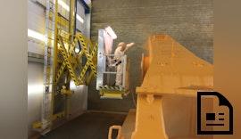 Die Lackieranlage erstrahlt im neuen Glanz dank SLF Hubarbeitsbühnen