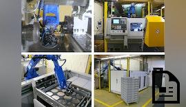 Drehmaschinen Automation mit ↗️ großer Werkstück-Autonomie dank Palettiersystem
