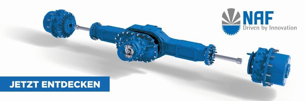NAF Achsen und Getriebe auf der ConExpo 2020 in Las Vegas