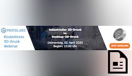 3DDruck Webinar: Industrieller 3D-Druck vs. Desktop-3D-Druck