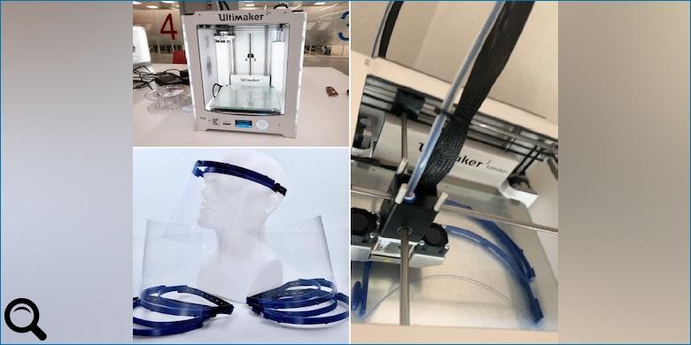 Welte spendet Gesichtsschutzmasken aus dem 3-D Drucker