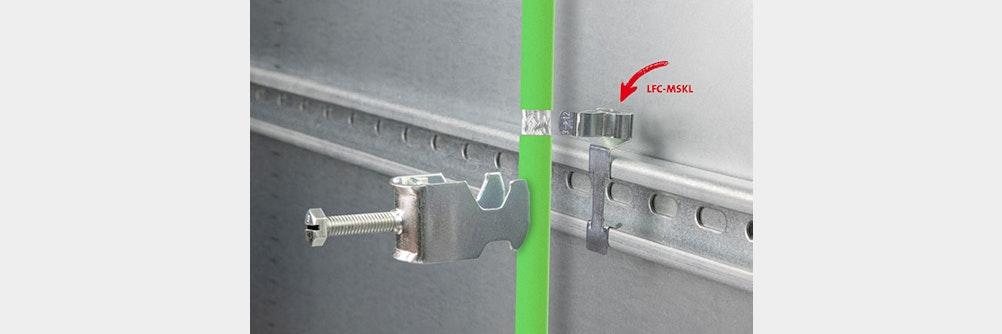 Neue EMV Schirmklammern zur Montage auf C-Schienen