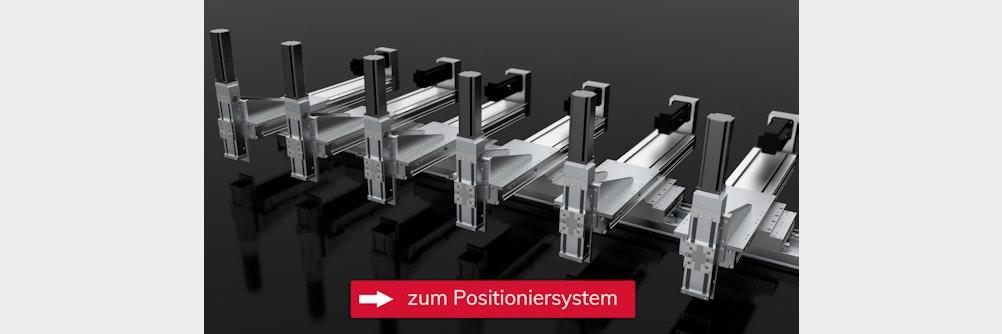 Positioniersystem mit geringem Bauraum für die Montage komplexer Bauteile