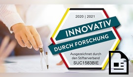 """🥇 Forschungssiegel """"Innovativ durch Forschung"""" 🔬"""