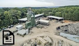 Herausforderung: Verschmutzter 30-Meter-Kamin im Asphalt-Mischwerk