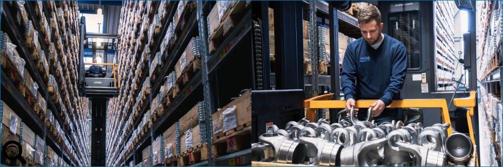 Über 5.000 einbaufertige #Gelenkwellen / #Kardanwellen sowie 20.000 Gelenkwellen Ersatzteile am Standort in Neu-Ulm bei der #Welte-Group