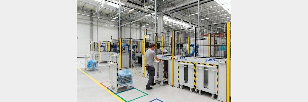 Roboter und  Palettiersysteme für die Großserienproduktion von ⚡🚲eBike Komponenten