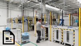 Hochflexible #Industrieroboter #Automation für die Großserienproduktion von #eBike Komponenten