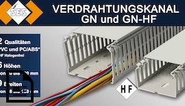 Verdrahtungskanäle GN PVC und GN-HF halogenfrei