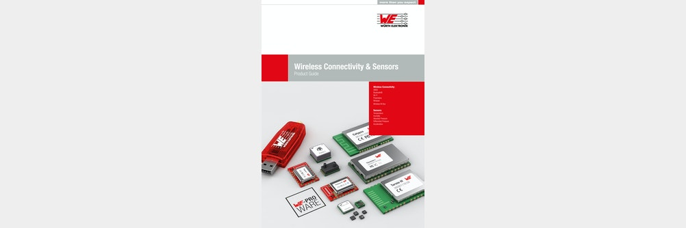 Würth Elektronik präsentiert Wireless Connectivity & Sensors Product Guide