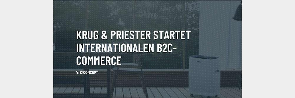 Krug & Priester startet internationalen B2C-Commerce mit neuen Online-Shops