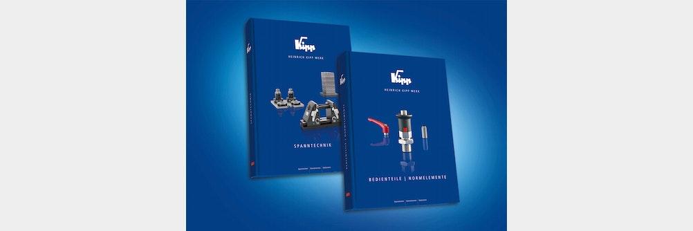 """Jetzt erhältlich: Die neuen KIPP Kataloge """"SPANNTECHNIK"""" und """"BEDIENTEILE   NORMELEMENTE"""""""