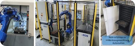 Roboter und Palettiersysteme automatisieren ⏱ Werkzeugmaschine