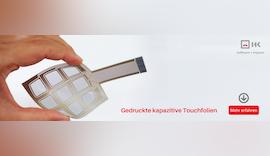 #PrintedElectronics: gedruckte kapazitive Touchfolien heben HMIs auf ein neues Level 🔝