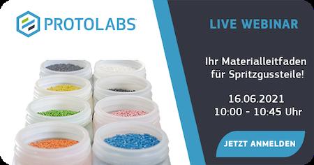 Live-Webinar: Ihr Materialleitfaden für Spritzgussteile