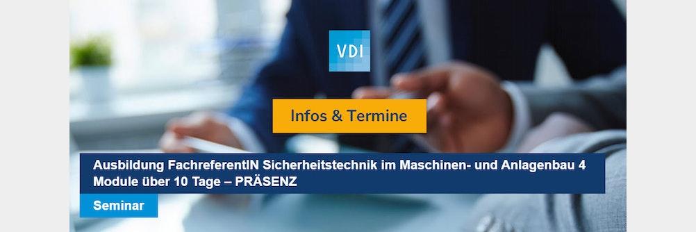 Seminar Sicherheitstechnik im Maschinen- und Anlagenbau