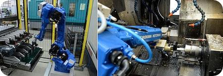 #Automatisierung einer Gegenspindel-#Drehmaschine mit #Industrieroboter